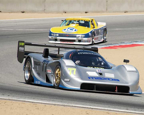 Weldon Munsey with 1992 Mazda RX7with92P in Group 7A - 1981-1991 FIA/IMSA GTP, GTO Cars at the 2015-Rolex Monterey Motorsport Reunion, Mazda Raceway Laguna Seca