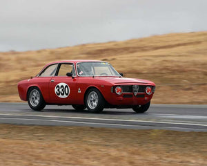 Bruce Miller with 1965 Alfa Romeo Sprint GT in  Group 2 at the 2015 Season Finale at Thunderhill Raceway