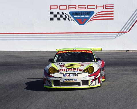 Catesby Jones with 2004 Porsche 996 RSR in Group 6 - Stuttgart Cup at the 2015 Rennsport Reunion V, Mazda Raceway Laguna Seca