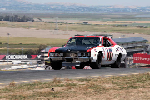 Craig Conley with 1971 Holman Moody Mercury Cyclone in Group 5 -  at the 2016 SVRA Sonoma Historics - Sears Point Raceway