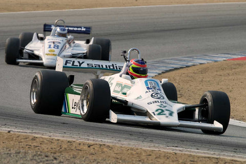 Zak Brown - 1980 Williams FW07B in Group 7B  at the 2016 Rolex Monterey Motorsport Reunion - Mazda Raceway Laguna Seca