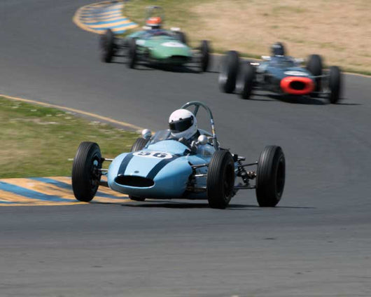 Maurice McCaig with 1961 Cooper Twith59 FwithJr. in Group 5 - at the 2016 CSRG David Love Memorial - Sears Point Raceway