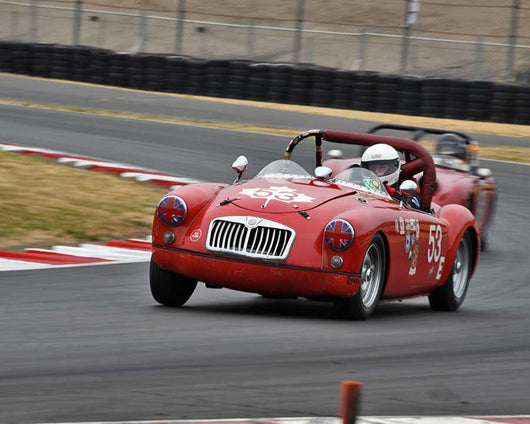 Ralph Zbarsky with 1959 MGA Twin Cam in Group 1 - Small Bore Production Cars at the 2015 Portland Vintage Racing Festival at Portland International Raceway