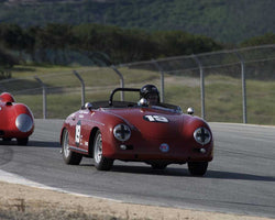 Steve Schmidt driving his Porsche 356 in Group 1 at the 2015 HMSA Spring Club Event at Mazda Raceway Laguna Seca