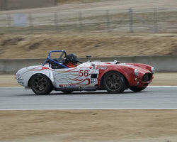 J Marty Brill driving his 2002 Factory 5 Cobra in Group 3 at the 2015 HMSA LSR Inventional I at Mazda Raceway Laguna Seca