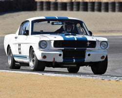 Thomas Studer with 1965 Shelby GT350 in Group 1A - Pre 1940 Sports Racing and Touring Cars at the 2015-Rolex Monterey Motorsport Reunion, Mazda Raceway Laguna Seca