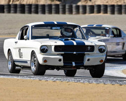 Scott Hackenson with 1965 Shelby GT350 in Group 1A - Pre 1940 Sports Racing and Touring Cars at the 2015-Rolex Monterey Motorsport Reunion, Mazda Raceway Laguna Seca