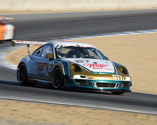 Pierce Marshall with 2012 Porsche GT3 in Group 1 - PCA Sholar-Friedman Cup at the 2015 Rennsport Reunion V, Mazda Raceway Laguna Seca