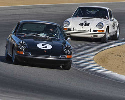 Don Ahearn with 1967 Porsche 911S in Group 3 - Eifel Trophy at the 2015 Rennsport Reunion V, Mazda Raceway Laguna Seca