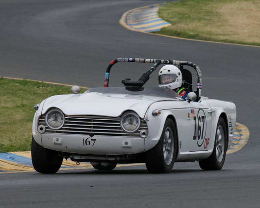 John Frymark with 1967 Triumph TR4A in Group 10 at the 2016 CSRG David Love Memorial - Sears Point Raceway
