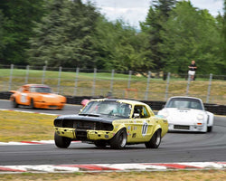 Michael Smith with 1967 Ford Mustang in Group 5 - WSC and World Manufactuer's Championship 1960-1972 at the 2015 Portland Vintage Racing Festival at Portland International Raceway