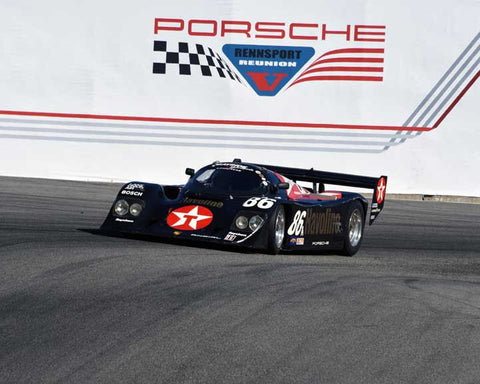 Bruce Leven with 1985 Porsche 962 in Group 6 - Stuttgart Cup at the 2015 Rennsport Reunion V, Mazda Raceway Laguna Seca