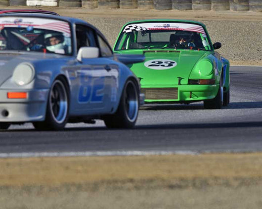 Alan Friedman with 1973 Porsche 911 RSR in Group 1 - PCA Sholar-Friedman Cup at the 2015 Rennsport Reunion V, Mazda Raceway Laguna Seca