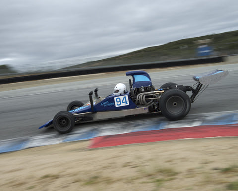 Eric Haga driving his Lola T300 in Group 2 at the 2015 HMSA Spring Club Event at Mazda Raceway Laguna Seca