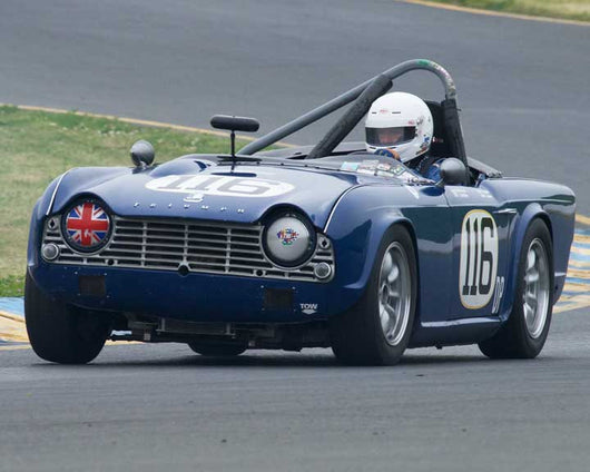 John James with 1965 Triumph TR4 in Group 10 at the 2016 CSRG David Love Memorial - Sears Point Raceway