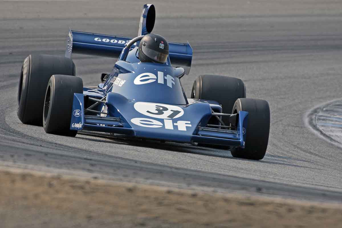 Nicholas Colyvas - 1974 Tyrrell 007 in Group 7B  at the 2016 Rolex Monterey Motorsport Reunion - Mazda Raceway Laguna Seca