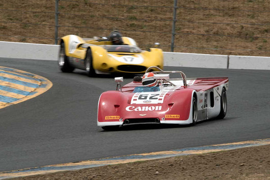 Ed Swart with 1971 Chevron B19 in Group 11 at the 2016 SVRA Sonoma Historics - Sears Point Raceway