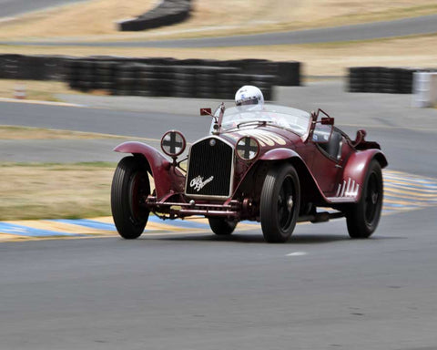 Tom Price with 1932 Alfa Romeo 8C 2300MM Spider in Group 1 - Pre-1941 Sport and Touring, 1925-1941 Racing Cars at the 2015 Sonoma Historic Motorsports Festival at Sonoma Raceway
