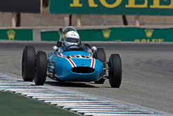 Jeremy Deeley - 1961 Cooper T56 in Group 2B - 1958-1960 Formula Jr. - front engine or drum brakes at the 2017 Rolex Monterey Motorsport Reunion run at Mazda Raceway Laguna Seca