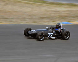 Mark Sange with 1935 Austin 7 Special Monoposto in Group 8 - 1956-1963 Formula Junior cars at the 2015 Sonoma Historic Motorsports Festival at Sonoma Raceway