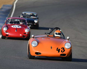 Jim Loveall with 1960 Porsche 356 in  Group 2 at the 2015 Season Finale at Thunderhill Raceway