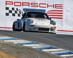 Cameron Healy with 1977 Porsche 911 Carerra RSR in Group 5 - Carrera Trophy at the 2015 Rennsport Reunion V, Mazda Raceway Laguna Seca