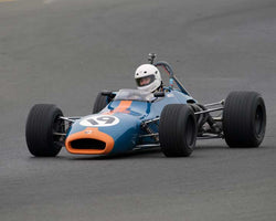 Tim Monahan with 1969 Brabham BT29 in Group 6 at the 2016 CSRG David Love Memorial - Sears Point Raceway