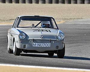 Steve Walker with 1960 BMW 700S in Group 2A - 1955-1962 GT Cars at the 2015-Rolex Monterey Motorsport Reunion, Mazda Raceway Laguna Seca