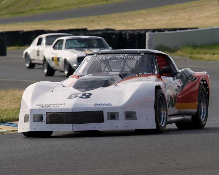 Mike Thurlow with 1976 Chevrolet Corvette in Group 8 - at the 2016 CSRG David Love Memorial - Sears Point Raceway