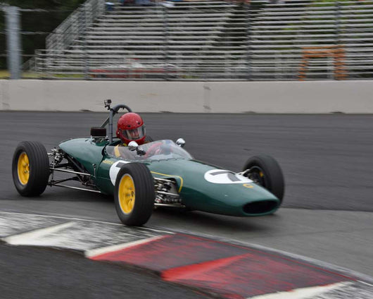 John Farrar with 1968 Lotus 51 in Group 2 - Open Wheel Prior to 1973 at the 2015 Portland Vintage Racing Festival at Portland International Raceway