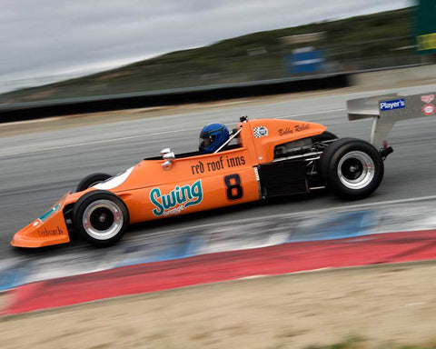 David Alvarado driving his March 76B in Group 2 at the 2015 HMSA Spring Club Event at Mazda Raceway Laguna Seca