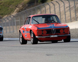 Bill Ockerlund driving his Alfa Romeo GTV in Group 1 at the 2015 HMSA Spring Club Event at Mazda Raceway Laguna Seca