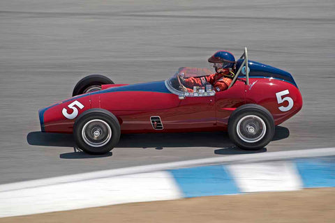 Hugh Ruthven - 1959 Bandini FJ in Group 2B - 1958-1960 Formula Jr. - front engine or drum brakes at the 2017 Rolex Monterey Motorsport Reunion run at Mazda Raceway Laguna Seca
