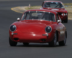 Marc Hugo with 1964 Porsche 356C in Group 9 - 1962-1967 Production and GT Cars under 2000cc at the 2015 Sonoma Historic Motorsports Festival at Sonoma Raceway