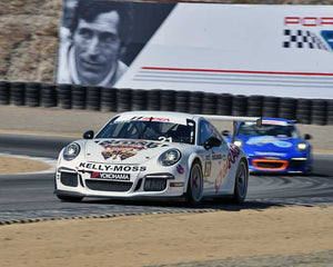 Jesse Lazare with 2015 Porsche GT3 Cup in Group 7 - Porsche GT3 Cup at the 2015 Rennsport Reunion V, Mazda Raceway Laguna Seca