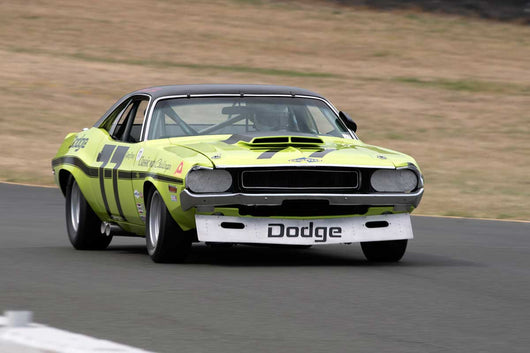 Richard Goldsmith with 1970 Dodge Challenger in Group 10 at the 2016 SVRA Sonoma Historics - Sears Point R