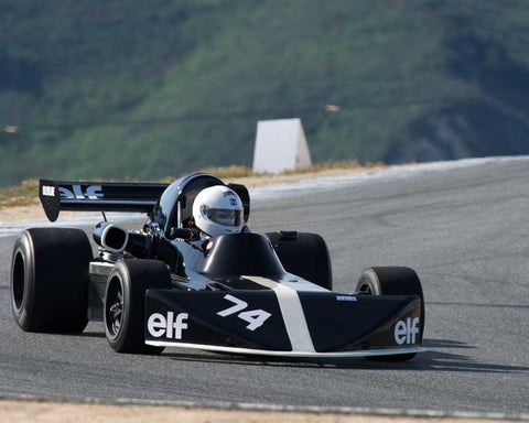 David Cooper driving his March 742 in Group 2 at the 2015 HMSA Spring Club Event at Mazda Raceway Laguna Seca