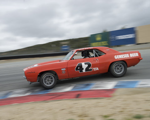 Jim Reed driving his Chevrolet Camaro in Group 6 at the 2015 HMSA Spring Club Event at Mazda Raceway Laguna Seca
