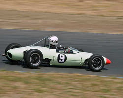 Carl Moore with 1962 Lotus 22 in Group 8 - 1956-1963 Formula Junior cars at the 2015 Sonoma Historic Motorsports Festival at Sonoma Raceway