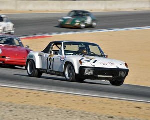 Ranson Webster with 1970 Porsche 914/6 GT in Group 3 - Eifel Trophy at the 2015 Rennsport Reunion V, Mazda Raceway Laguna Seca