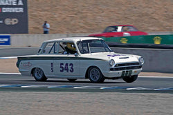 Roger Andriesse - 1965 Lotus Cortina in Group 3B - 1961-1966 GT Cars under 2500cc at the 2017 Rolex Monterey Motorsport Reunion run at Mazda Raceway Laguna Seca