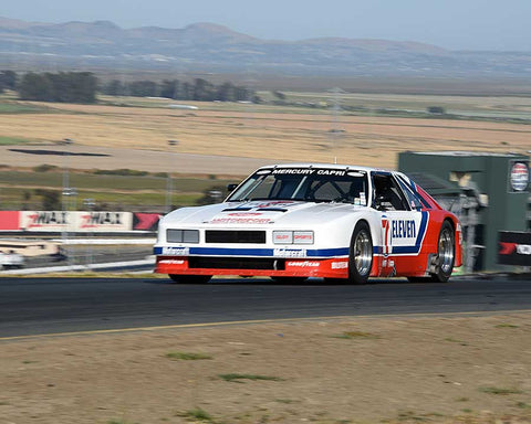 John McKenna with 1984 Mercury Capri in Group 13 - 1982-1991 Historic IMSA GTO/SCCA Trans-Am at the 2015 Sonoma Historic Motorsports Festival at Sonoma Raceway