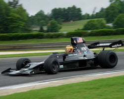 Keith Frieser with 1973 Shadow DN1 in Group 6 Master F1 at the 2015 HMSA Barber Historics