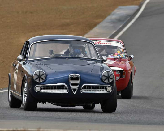Bob Albright with 1959 Alfa Romeo Sprint in  Group 1 at the 2015 Season Finale at Thunderhill Raceway