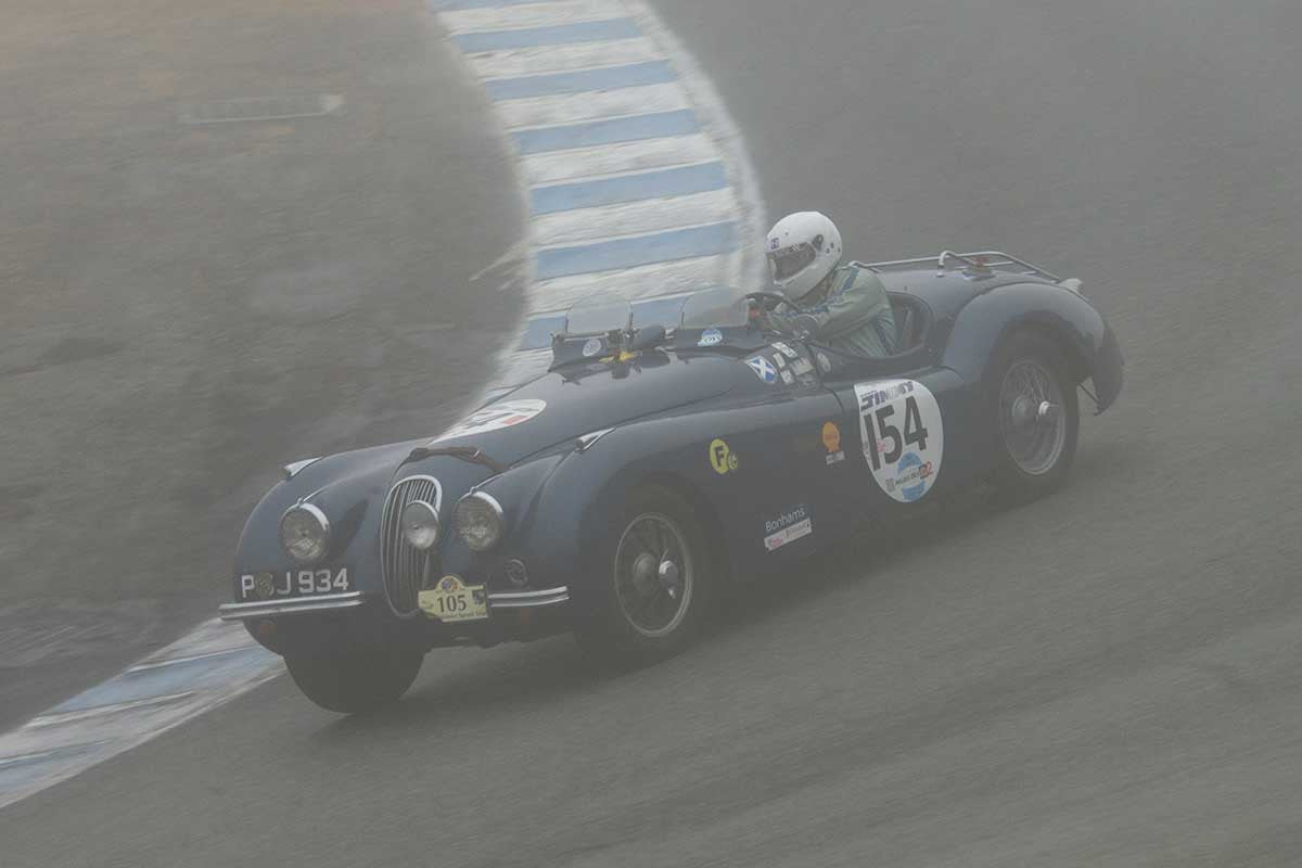 George Holt - 1954 Jaguar XK120 roadster in Group 1B  at the 2016 Rolex Monterey Motorsport Reunion - Mazda Raceway Laguna Seca