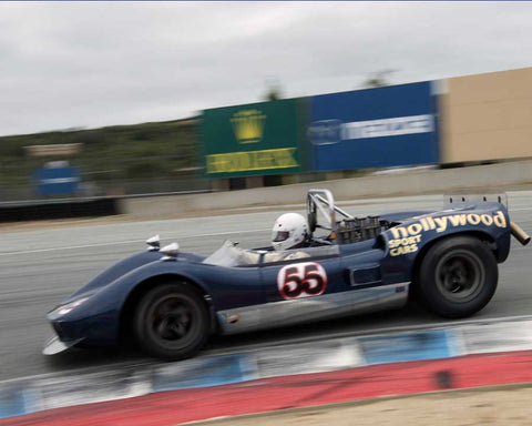 Eric Haga driving his McLaren M1A in Group 5 at the 2015 HMSA Spring Club Event at Mazda Raceway Laguna Seca