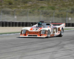 Andre Lara Resende with 1978 Chevron B36 in Group 6A - FIA Manufacturers Championship Cars at the 2015-Rolex Monterey Motorsport Reunion, Mazda Raceway Laguna Seca