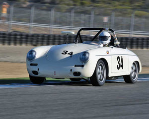 Mark Eskuche with 1961 Porsche Roadster in Group 2 - Gmund Cup at the 2015 Rennsport Reunion V, Mazda Raceway Laguna Seca