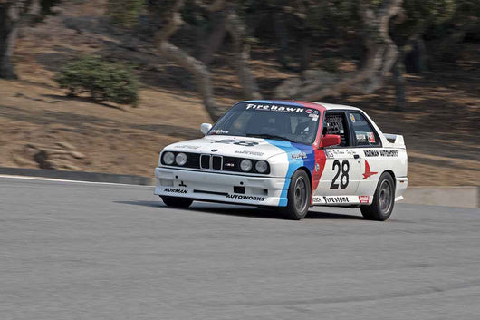 Ray Korman - 1987 BMW M3 in Group 5B  at the 2016 Rolex Monterey Motorsport Reunion - Mazda Raceway Laguna Seca