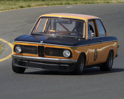 Marc Hugo driving his 1969 BMW 2002 in Group 8 at the 2015 CSRG David Love Memorial Vintage Car Road Races at Sonoma Raceway
